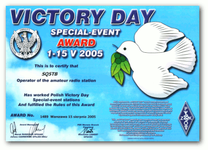 Victory Day Award 2005